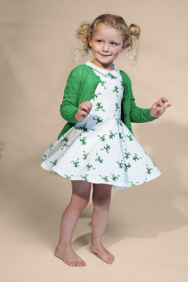 Lily Balou Iris Cardigan Knitwear Grass Green