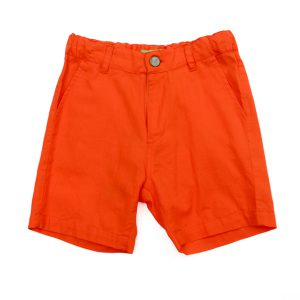 Lily Balou Astor Shorts Cotton Twill Red Orange