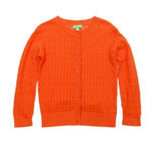 Lily Balou Iris Cardigan Knitwear Red Orange