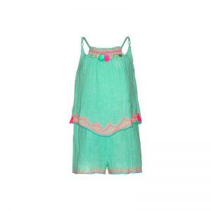 Mim Pi Mint groene meisjes jumpsuit met spagettibandjes Mim 284