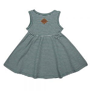 Little Indians Dress Forest Stripe