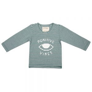 Little Indians Longsleeve Positive Vibes Forest Stripe