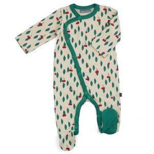 Froy & Dind jumpsuit met voetjes Cherry