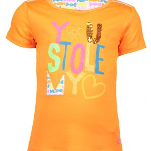 Kidz Art T-shirt You Stole My Heart Neon Orange