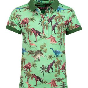 Someone polo Dinosaur Bright Green