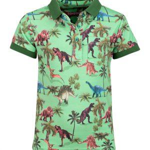 Someone polo Dinosaur Bright Green