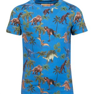 Someone T-shirt Dinosaur Medium Blue