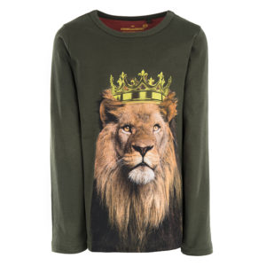 STONES and BONES longsleeve Skipper Lion Khaki