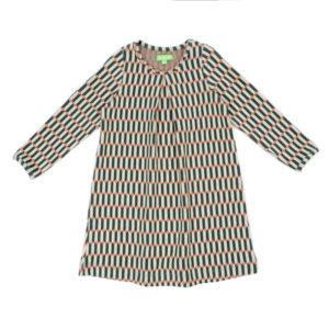 Lily Balou Alizee jurk Blocks Green