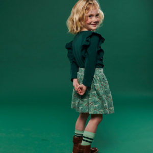 Lily Balou Charlotte longsleeve ruffles Dark Green