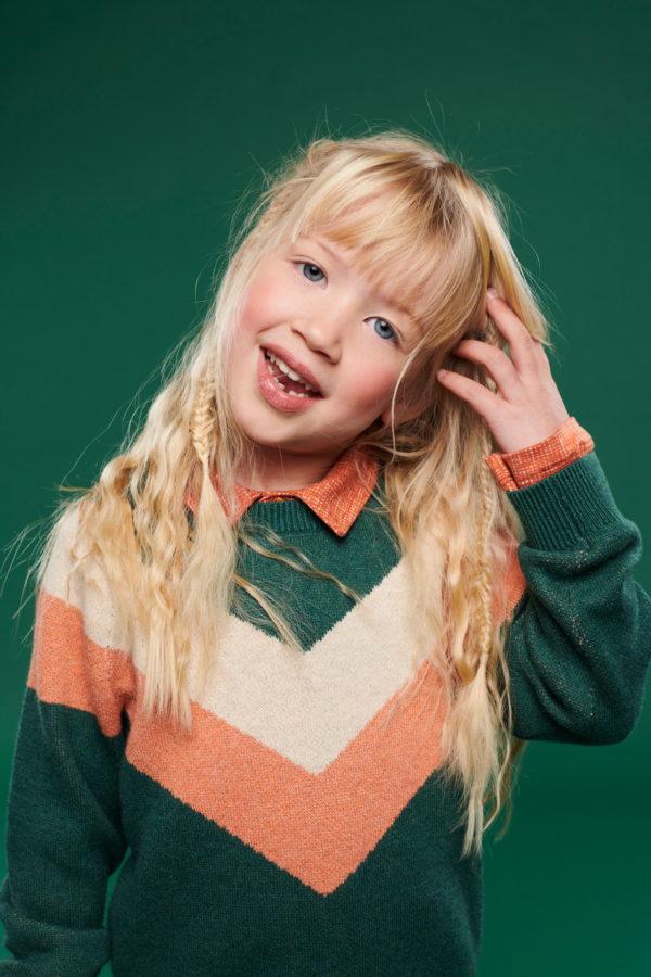 Lily Balou Livia Colourblock Sweater Dark Green