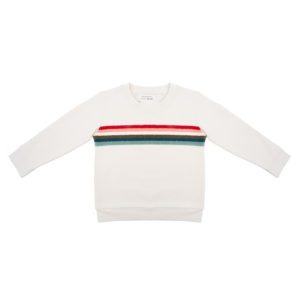 Little Indians Sweater Colourful Rainbow Ecru