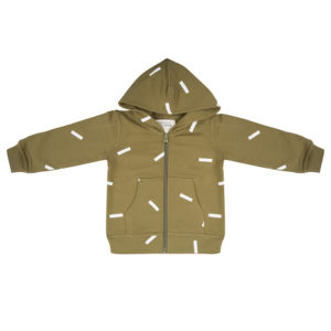 Little Indians Hoodie Strokes Olive