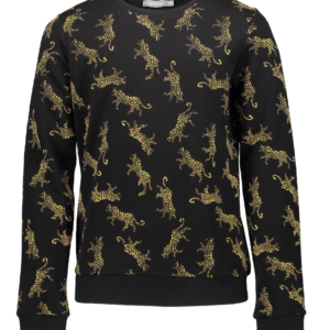 Geisha sweater Leopards black/yellow
