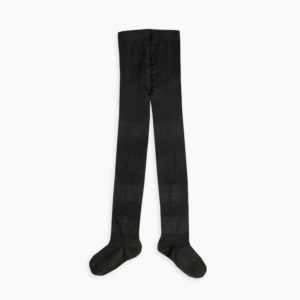 Sproet & Sprout zwarte kousen met zwarte lurex strepen