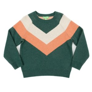 Lily Balou Livia Colourblock Sweater Dark Green