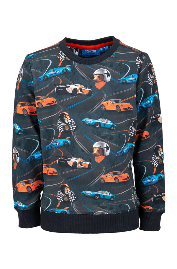Someone sweater Racer Antracite