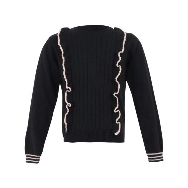 Little Miss Juliette sweater zwart