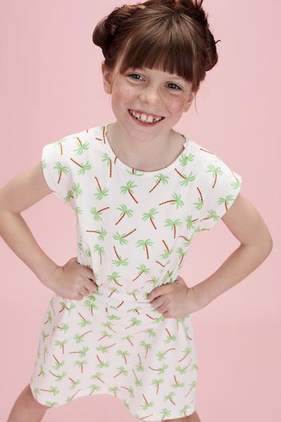 Lily Balou Yara jurk Palm Trees