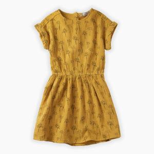 Sproet & Sprout jurk print Palm Tree Curcuma