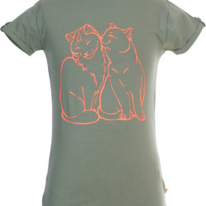 Someone T-shirt Kitty Light Khaki