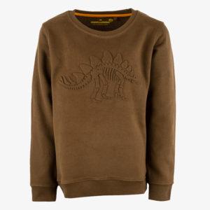Stones and Bones Sweater Impress Embossed Dino Khaki