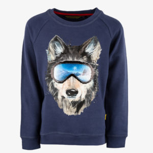 Stones and Bones longsleeve Tougher Wolf Navy