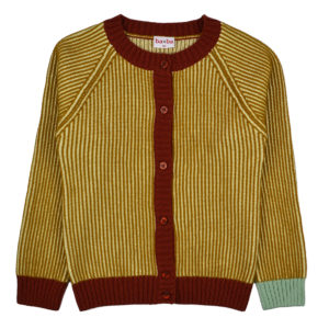 Baba cardigan Mustard Stripes