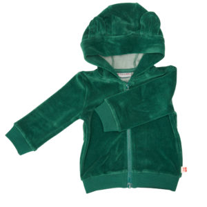 Froy & Dind Hoodie Balou Evergreen velours