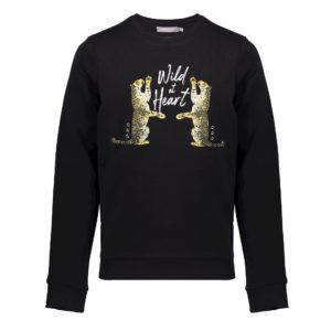 Geisha zwarte sweater met print