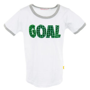 Stones and Bones T-shirt Russell Goal White