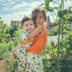 Baba Kidswear Jurk Smock Flower Field