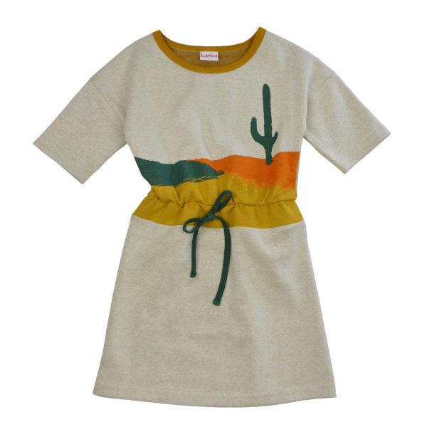 Baba jurk Blanche Jacquard Cactus