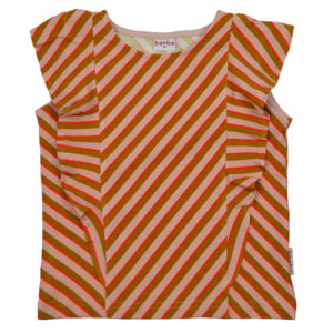 Baba Kidswear T-shirt Ruffle Diagonal Pink
